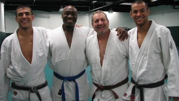 Michael Clark Duncan and Ed O'Neil Jiu Jitsu