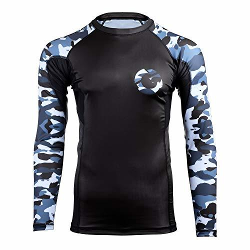 Gold BJJ Jiu Jitsu Camo Compression Rash Guard